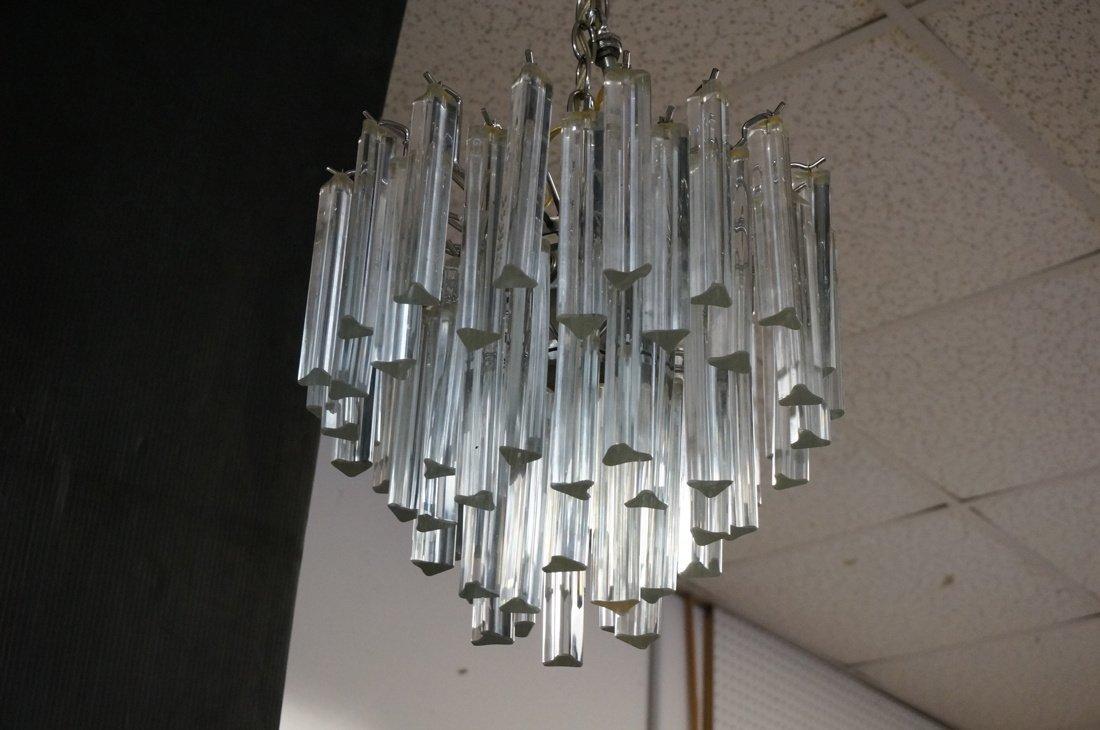 Small Hanging Chandelier. Three tiers glass hangi - 5