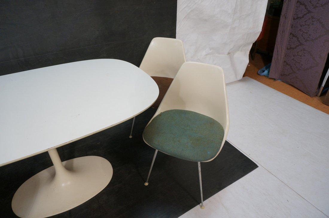 5pc BURKE Dining Set. Oval White Laminate Table. - 3