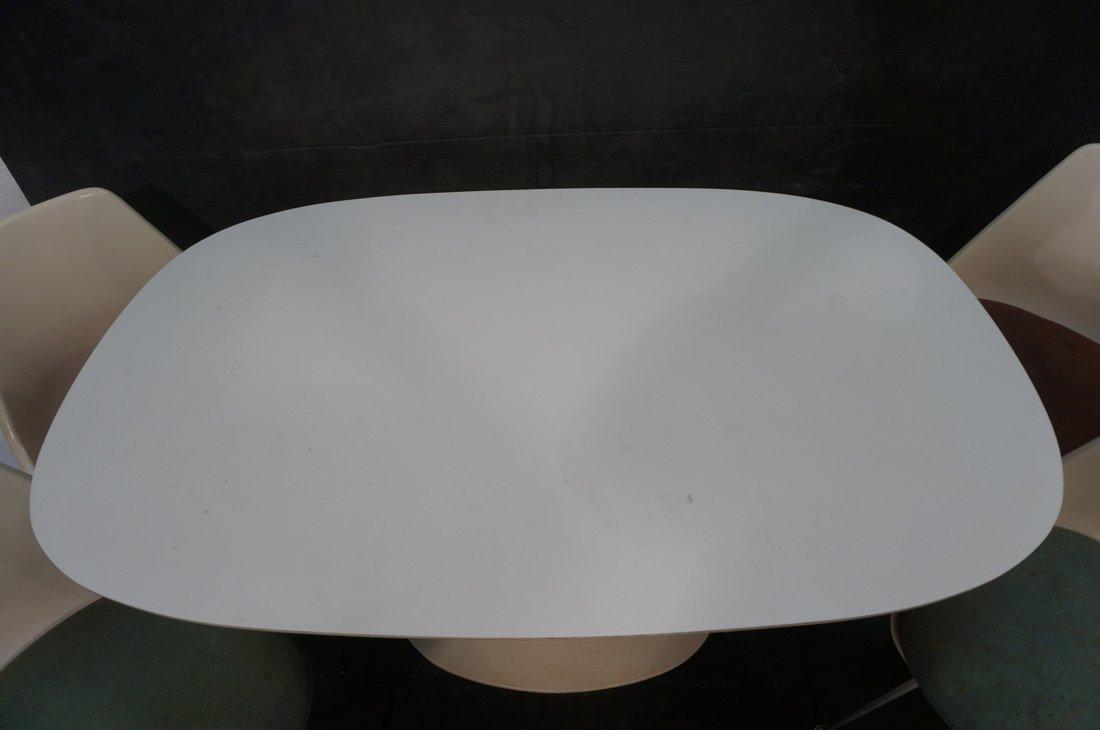 5pc BURKE Dining Set. Oval White Laminate Table. - 4
