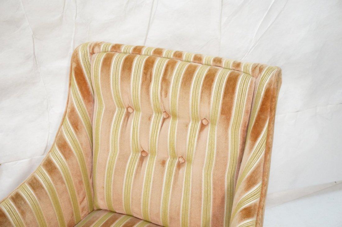 Pr Decorator Fire Side Chairs. Plush peach & gree - 4