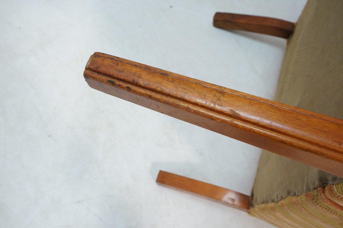 Pr Decorator Fire Side Chairs. Plush peach & gree - 8