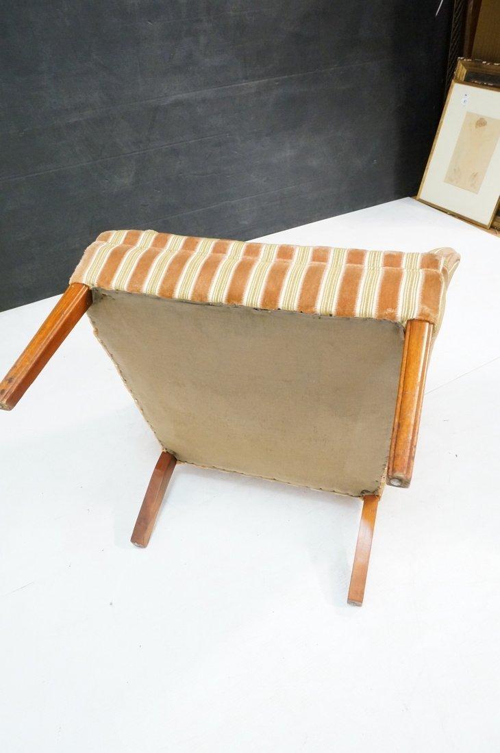 Pr Decorator Fire Side Chairs. Plush peach & gree - 9