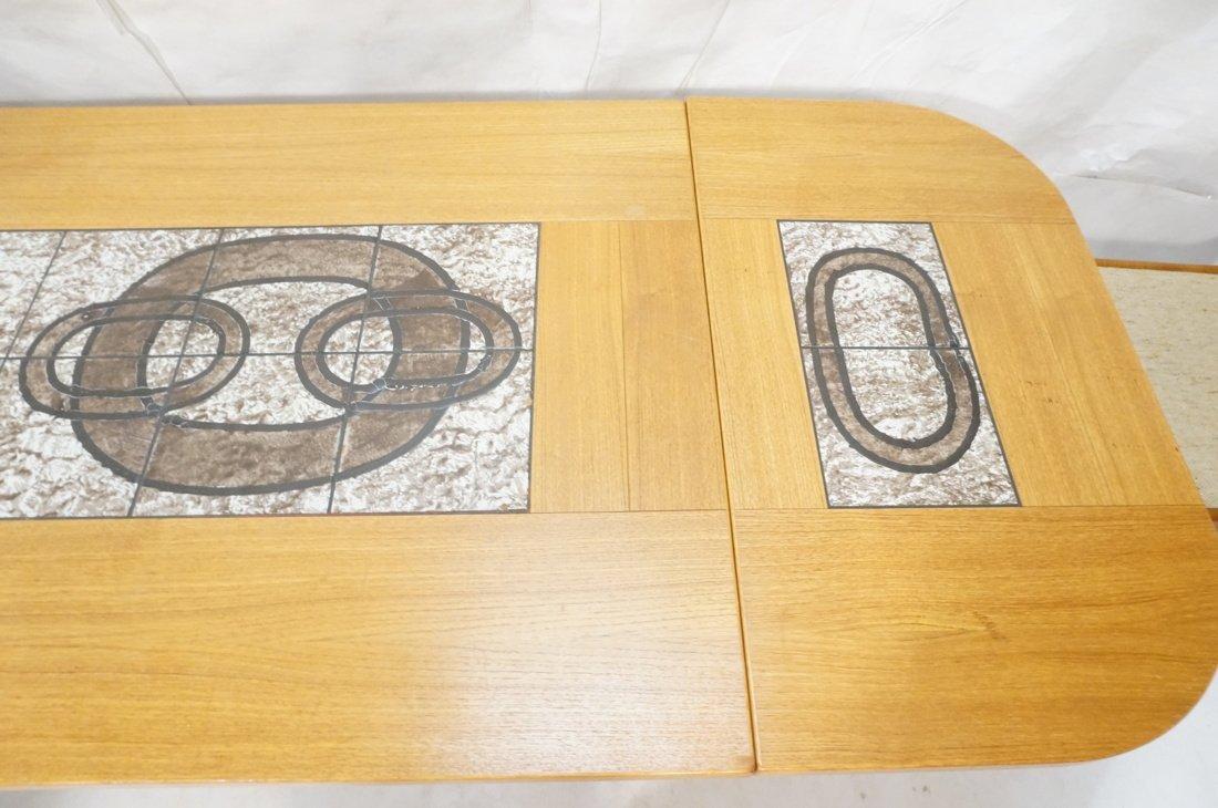 Danish Modern Teak Dining Set. Inset ceramic tile - 10