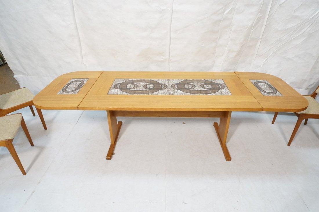 Danish Modern Teak Dining Set. Inset ceramic tile - 7