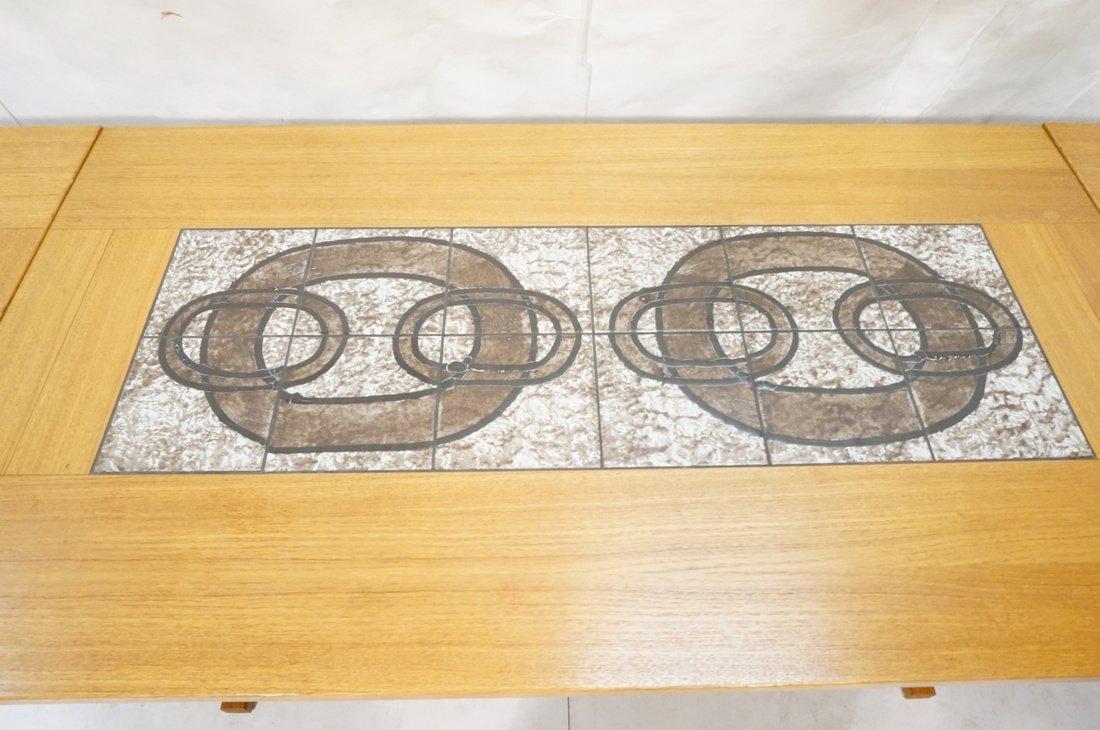 Danish Modern Teak Dining Set. Inset ceramic tile - 9