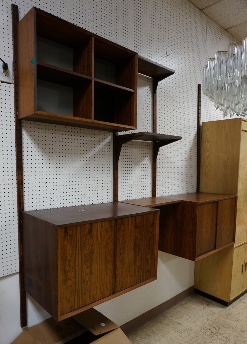 Rosewood CADO Wall Unit. Four Rosewood uprights.