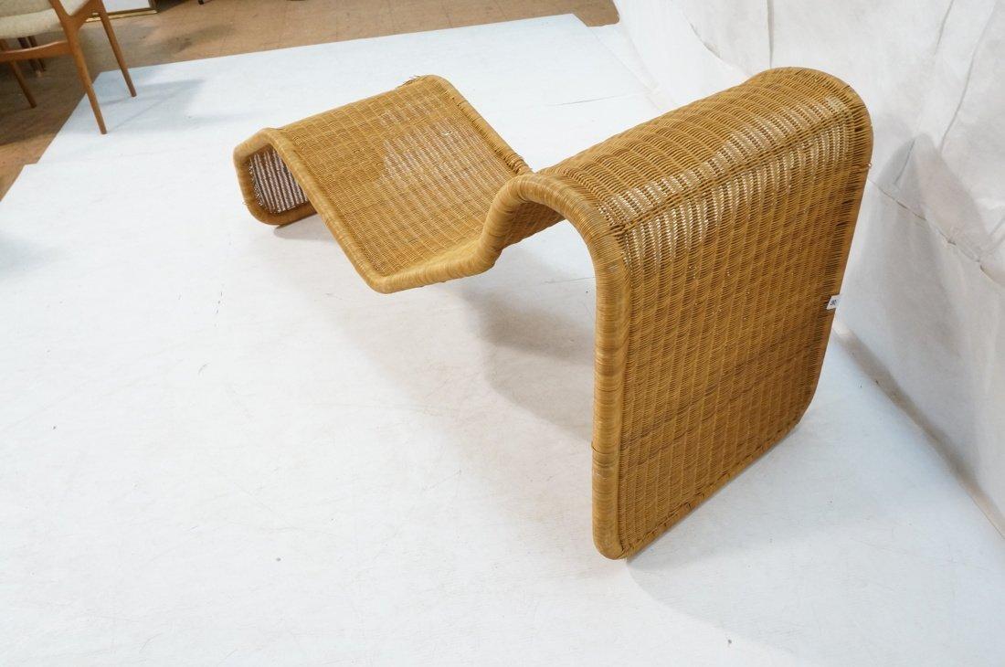 Woven Dark wicker Modernist Chaise Lounge. - 5