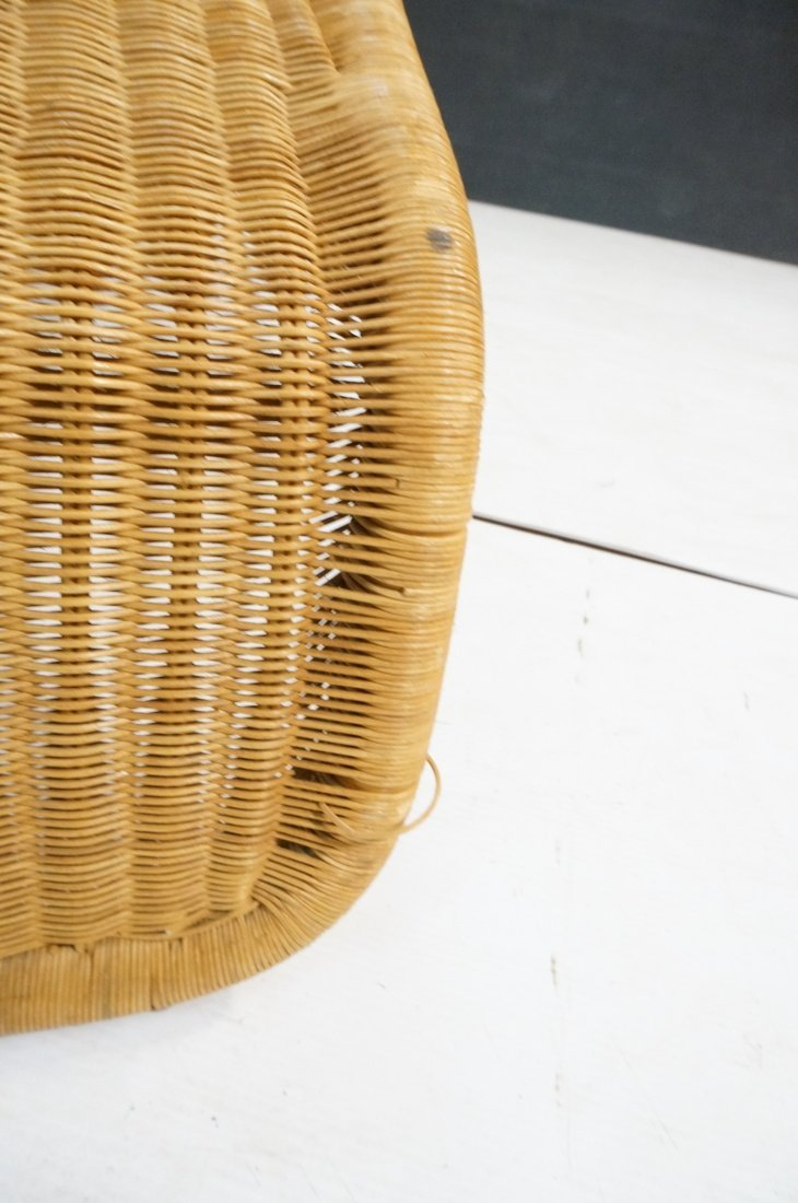 Woven Dark wicker Modernist Chaise Lounge. - 9
