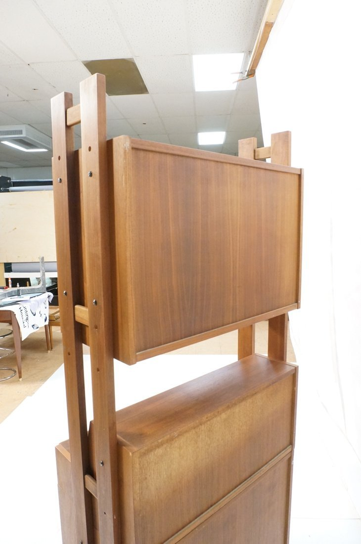 Danish Modern Teak Small Cabinet Hutch. Lower cab - 10