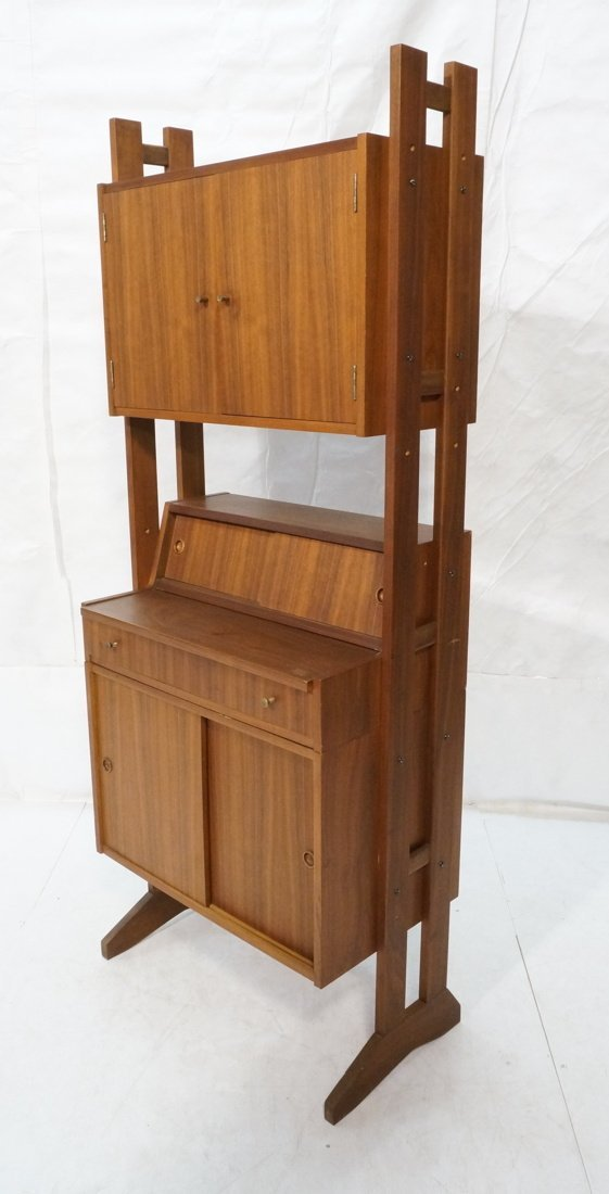 Danish Modern Teak Small Cabinet Hutch. Lower cab
