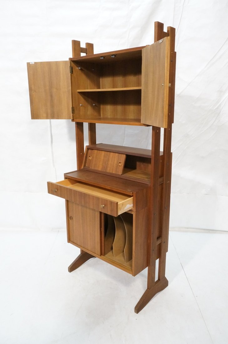 Danish Modern Teak Small Cabinet Hutch. Lower cab - 2
