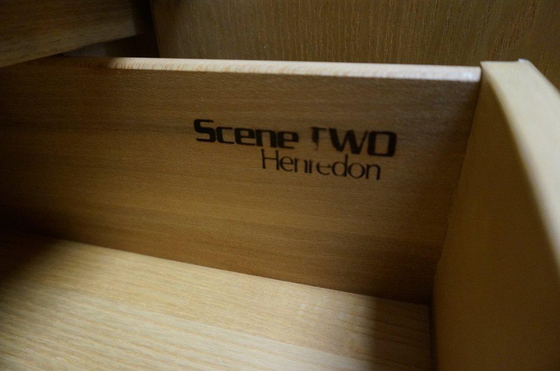 Pr HENREDON Scene II Blond Burl Wood Tall Cabinet - 3