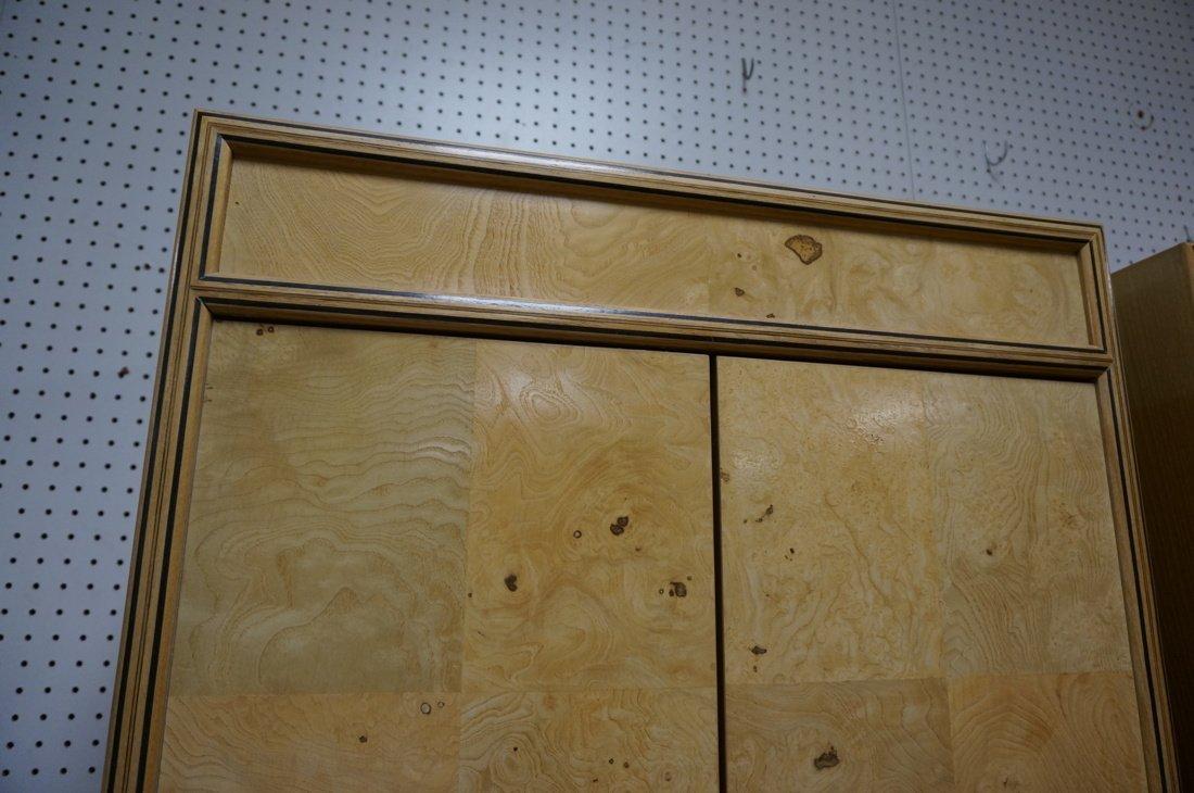 Pr HENREDON Scene II Blond Burl Wood Tall Cabinet - 4