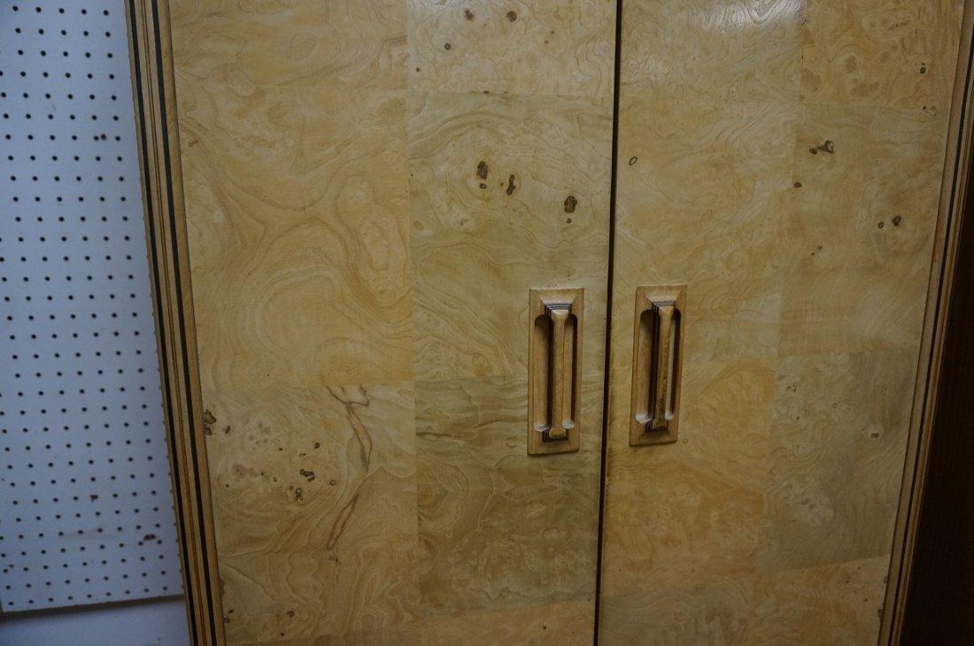 Pr HENREDON Scene II Blond Burl Wood Tall Cabinet - 5