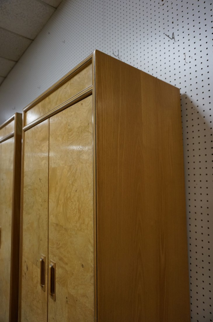 Pr HENREDON Scene II Blond Burl Wood Tall Cabinet - 7