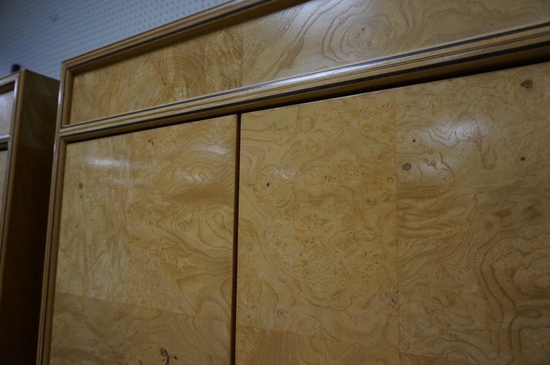 Pr HENREDON Scene II Blond Burl Wood Tall Cabinet - 8