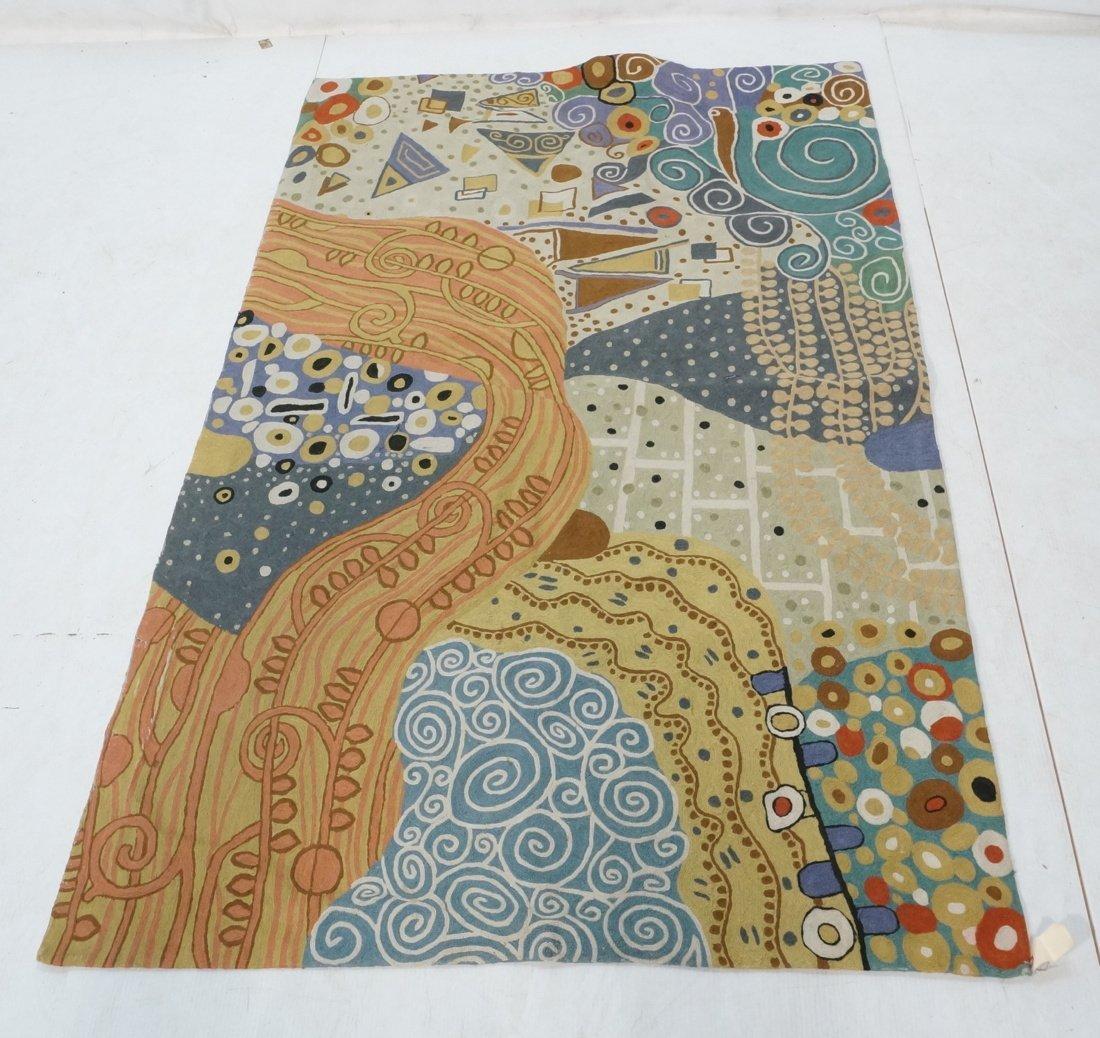 Embroidered GUSTAV KLIMT style Rug Tapestry. Colo