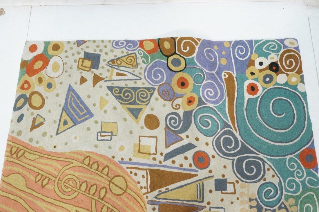 Embroidered GUSTAV KLIMT style Rug Tapestry. Colo - 2