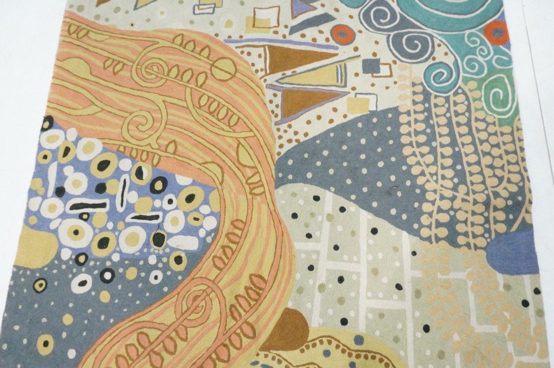 Embroidered GUSTAV KLIMT style Rug Tapestry. Colo - 3