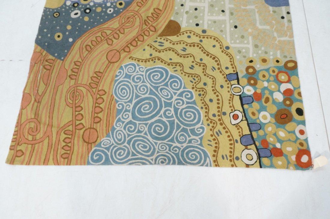 Embroidered GUSTAV KLIMT style Rug Tapestry. Colo - 4