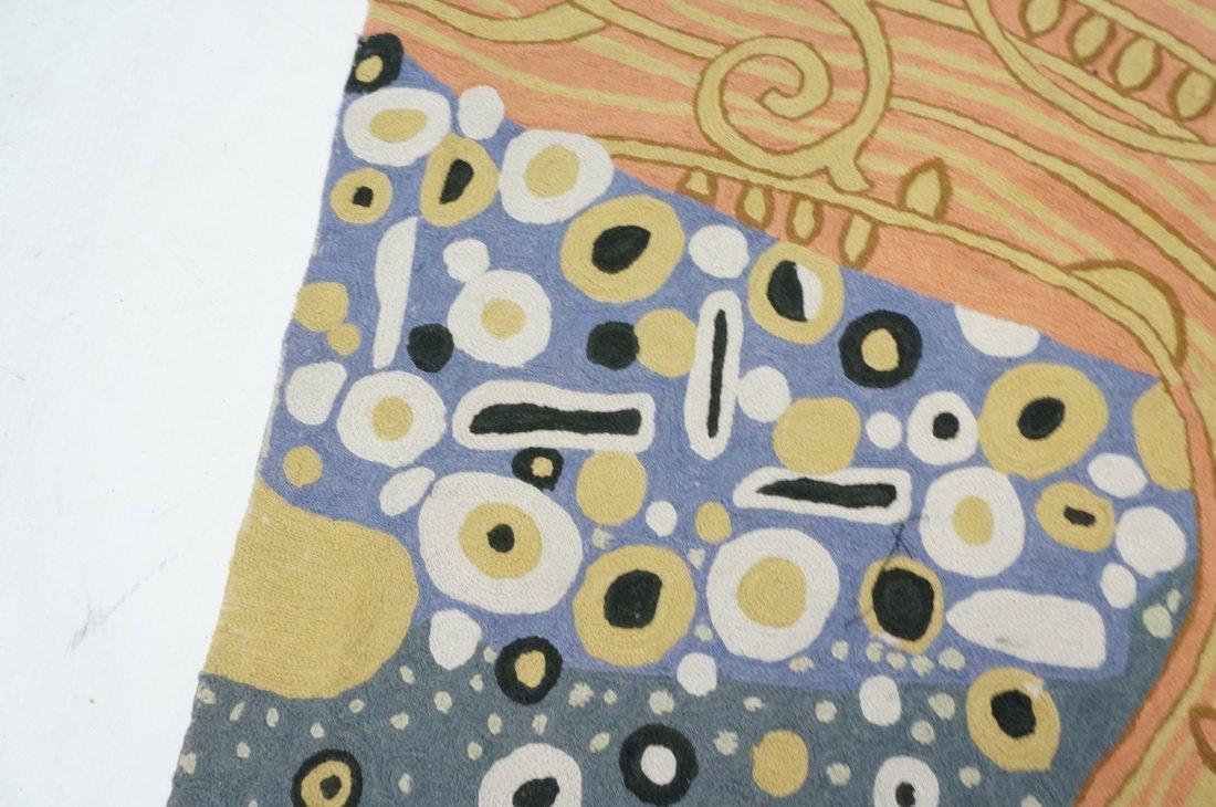 Embroidered GUSTAV KLIMT style Rug Tapestry. Colo - 5