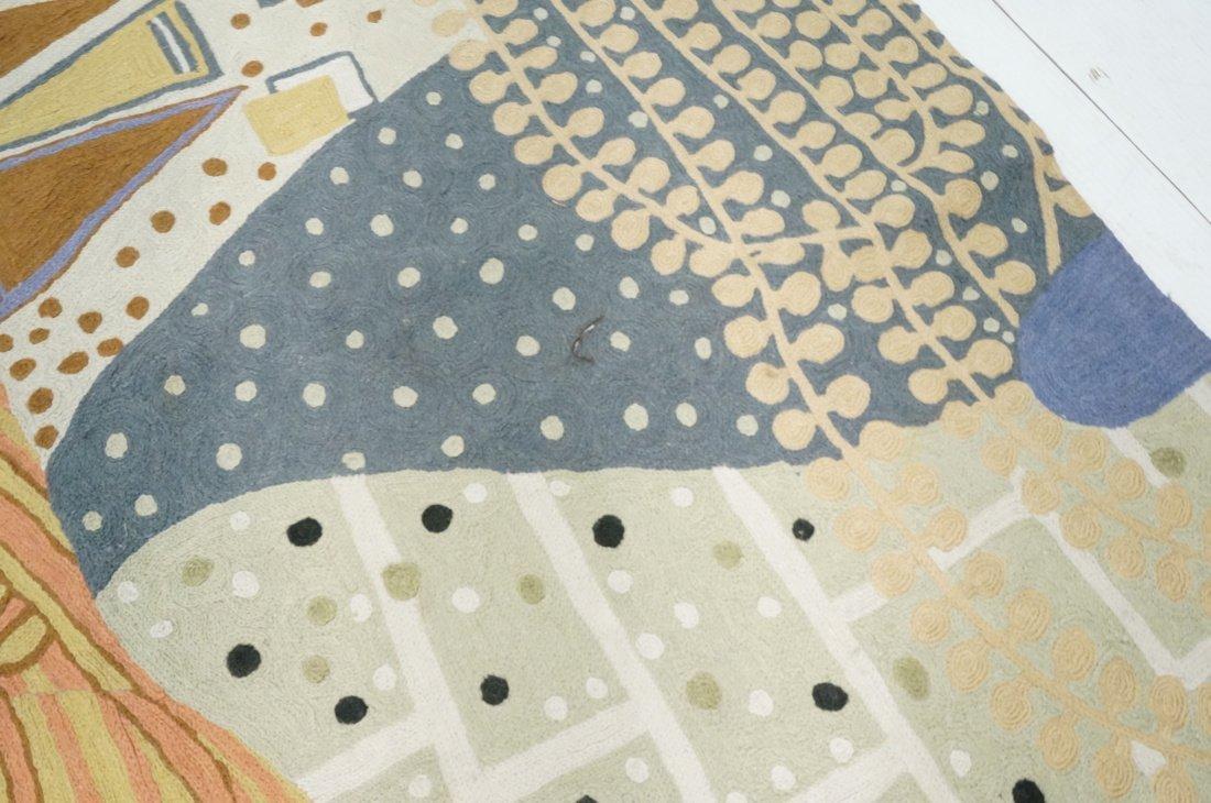 Embroidered GUSTAV KLIMT style Rug Tapestry. Colo - 6