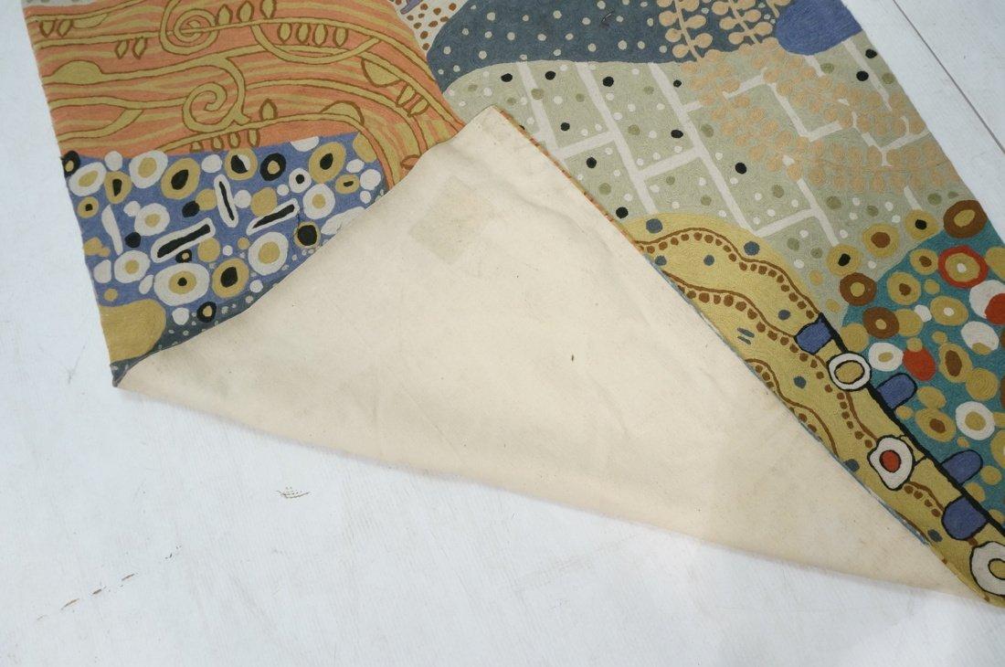 Embroidered GUSTAV KLIMT style Rug Tapestry. Colo - 8