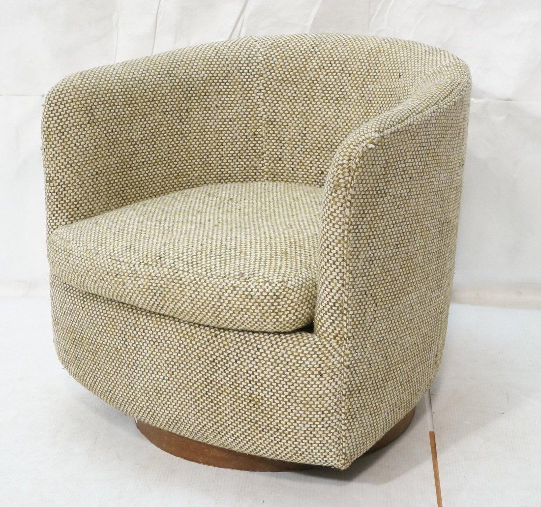 CARLTON HOUSE  Swivel Lounge Chair. Barrel back s