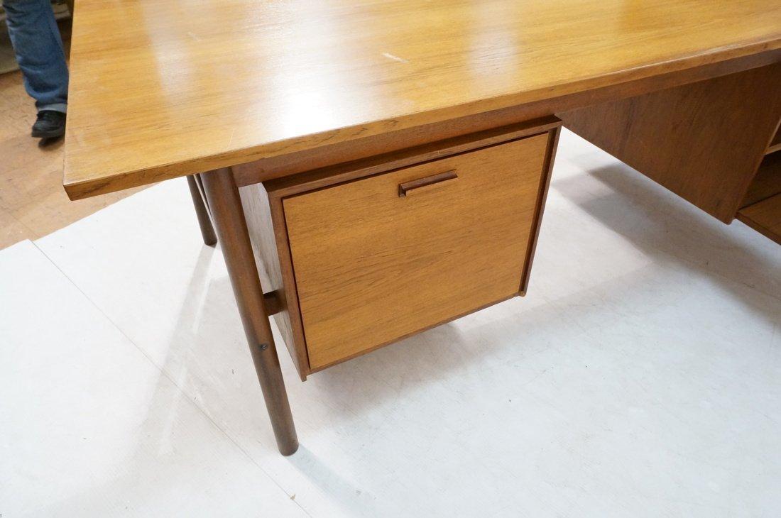 Large Executive 5 drawer Modernist Desk. Teak Dan - 10