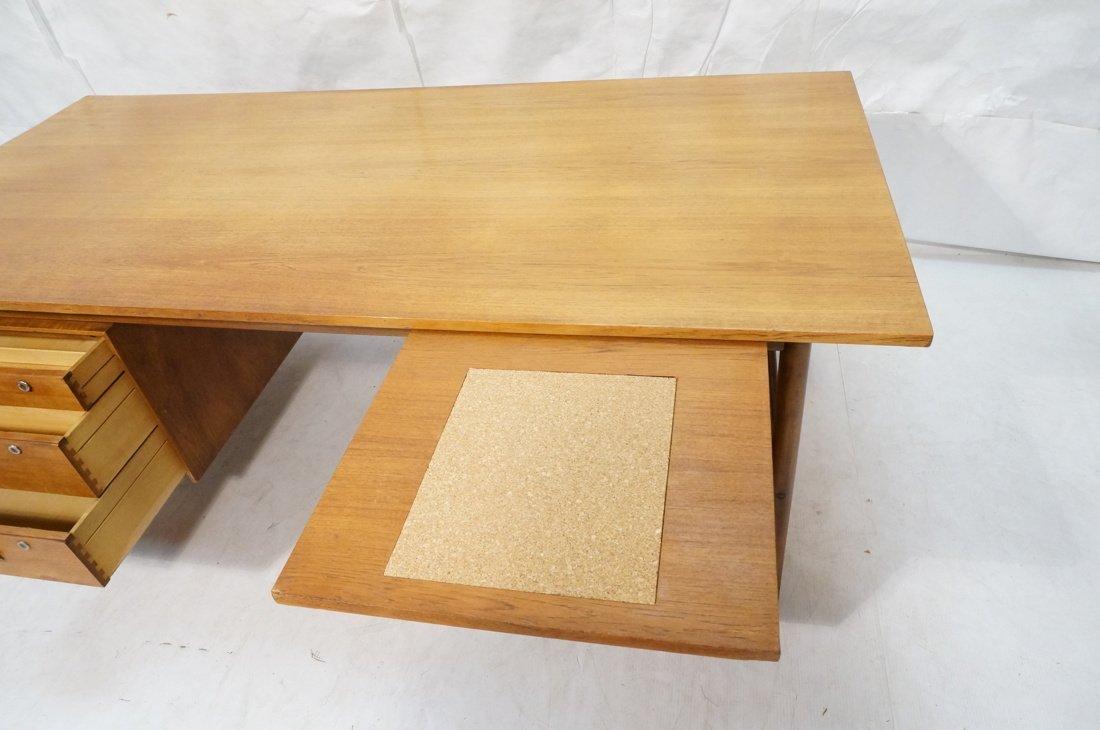 Large Executive 5 drawer Modernist Desk. Teak Dan - 3