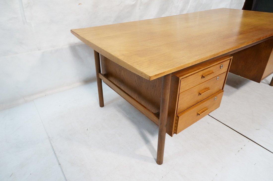 Large Executive 5 drawer Modernist Desk. Teak Dan - 4