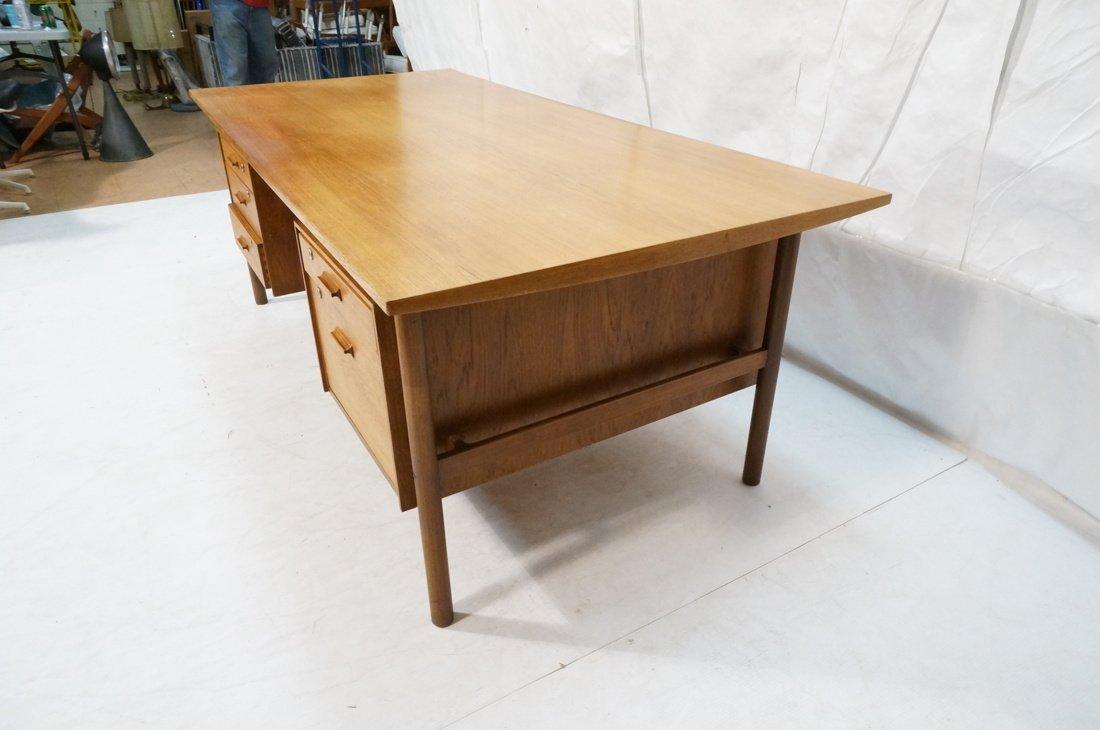 Large Executive 5 drawer Modernist Desk. Teak Dan - 6