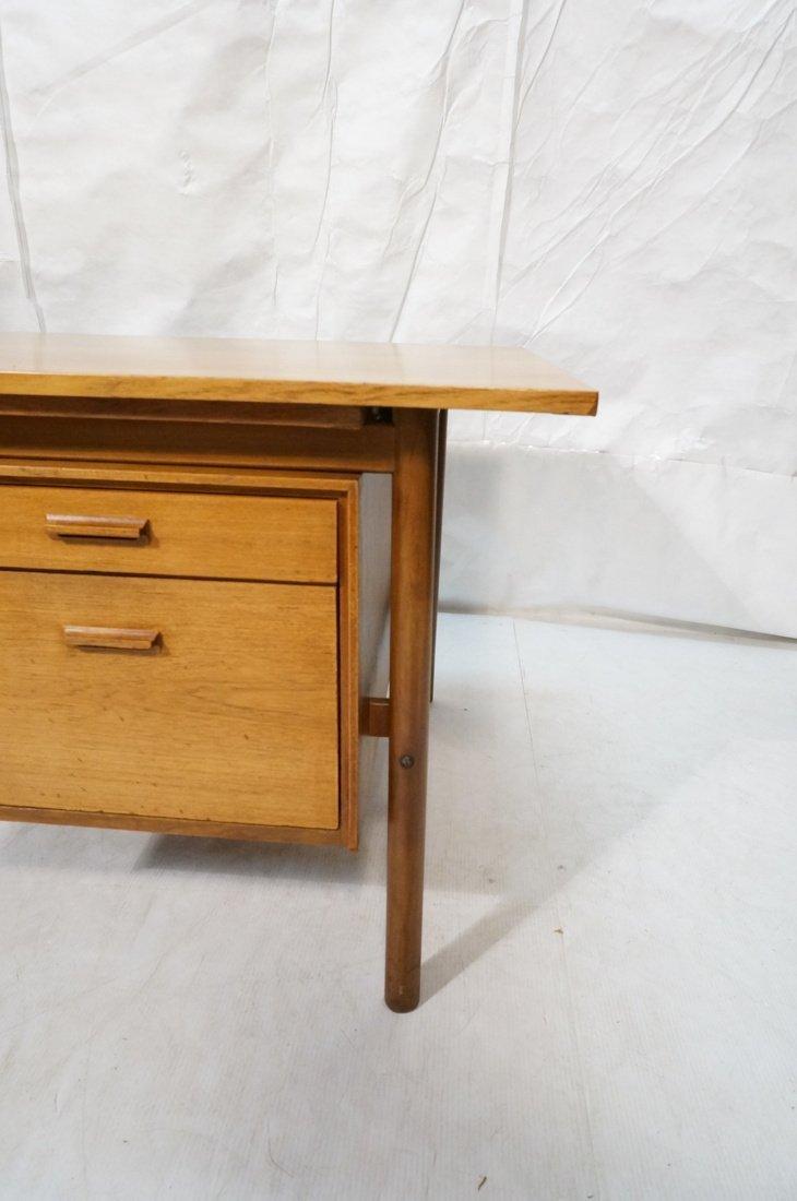 Large Executive 5 drawer Modernist Desk. Teak Dan - 7