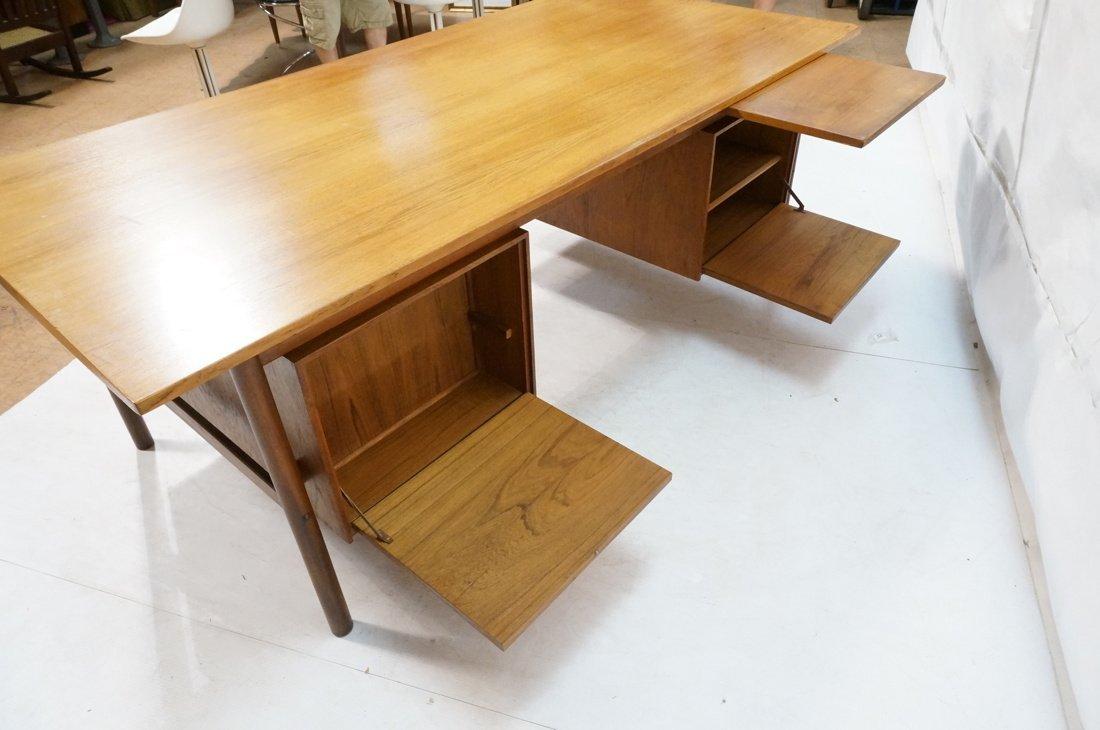Large Executive 5 drawer Modernist Desk. Teak Dan - 9