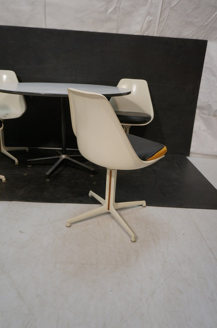 Herman Miller table with 4 BURKE chairs Dining set - 6