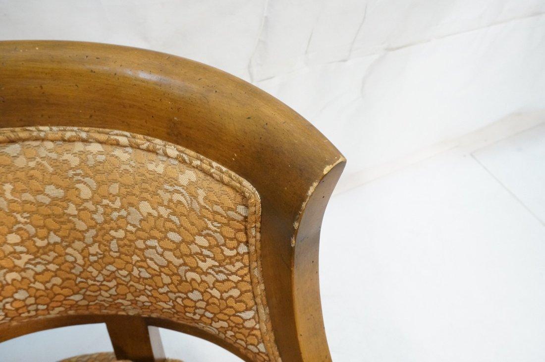 Pr Low Lounge Chairs. Bowed backs. Wood frames. P - 5