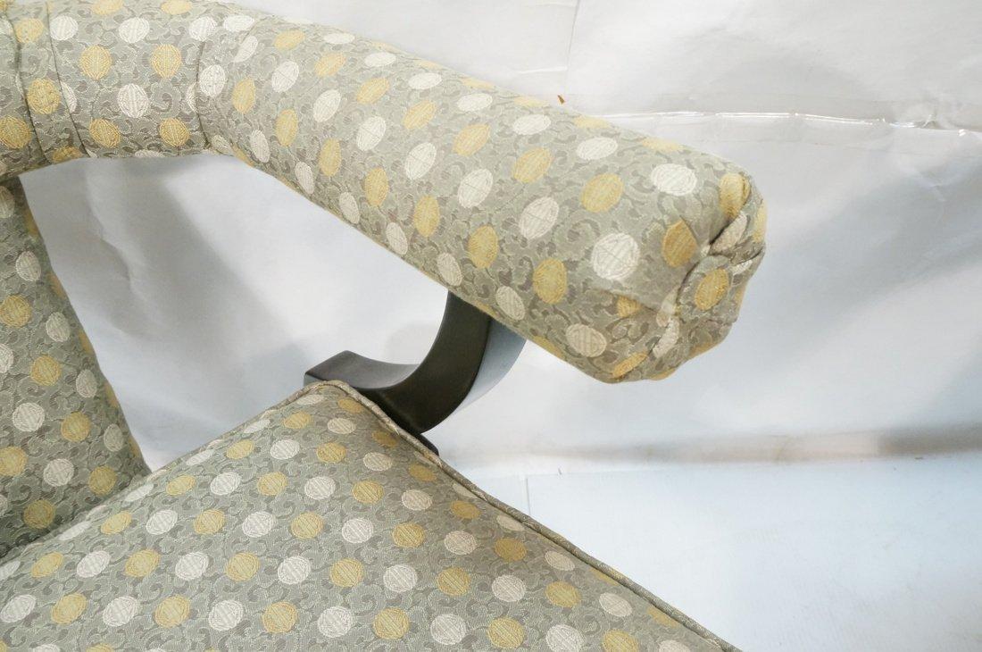 "Pr Decorator ""Horn"" Back Lounge Chairs. Ebonized - 5"