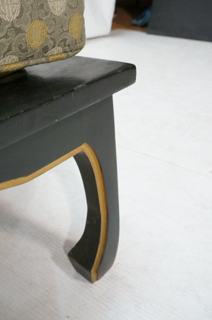 "Pr Decorator ""Horn"" Back Lounge Chairs. Ebonized - 8"