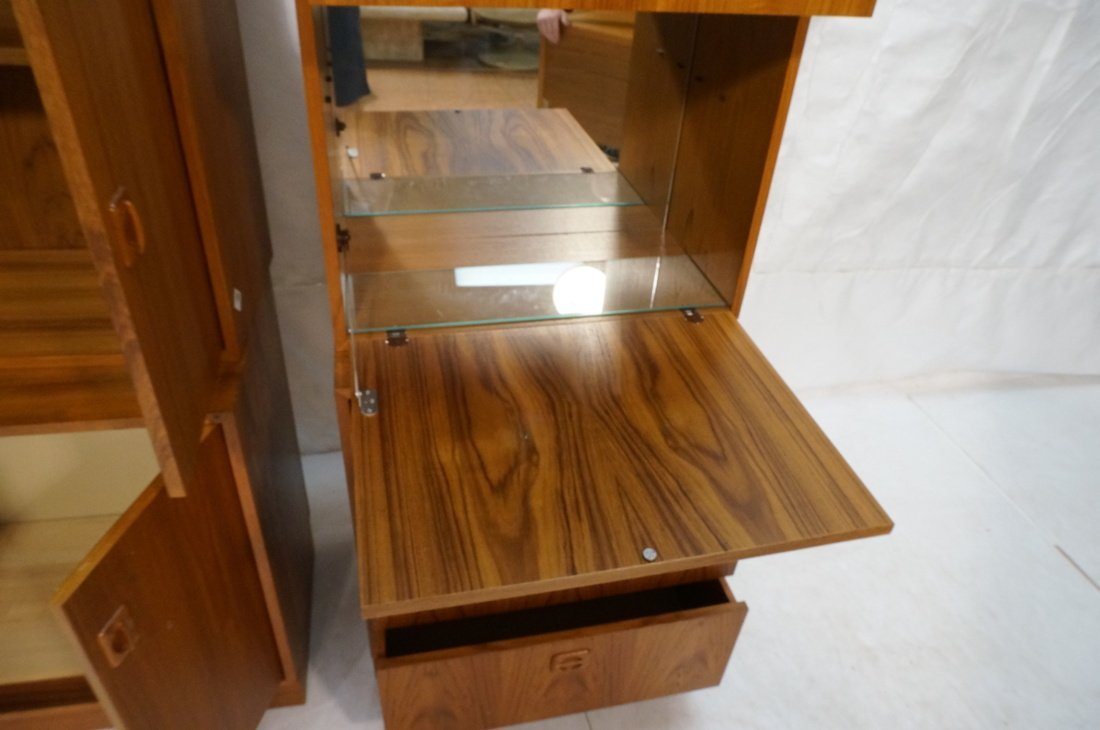 2pcs Danish Modern Teak Cabinets. One with two do - 3