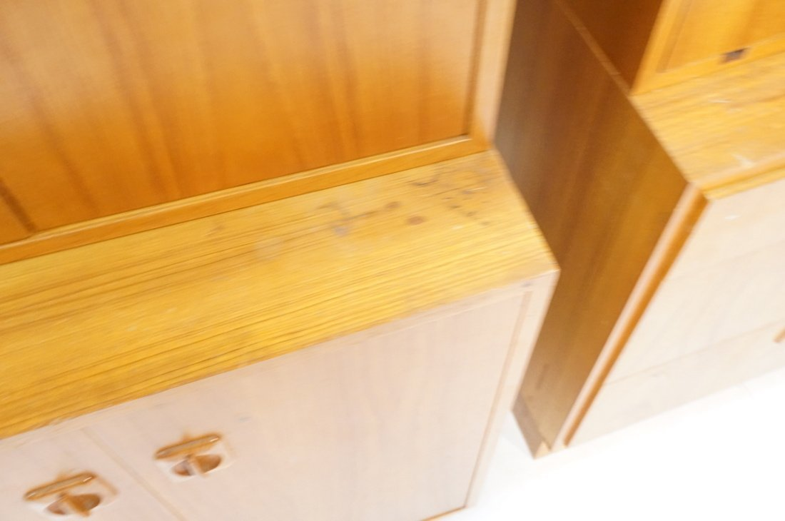 2pcs Danish Modern Teak Cabinets. One with two do - 6