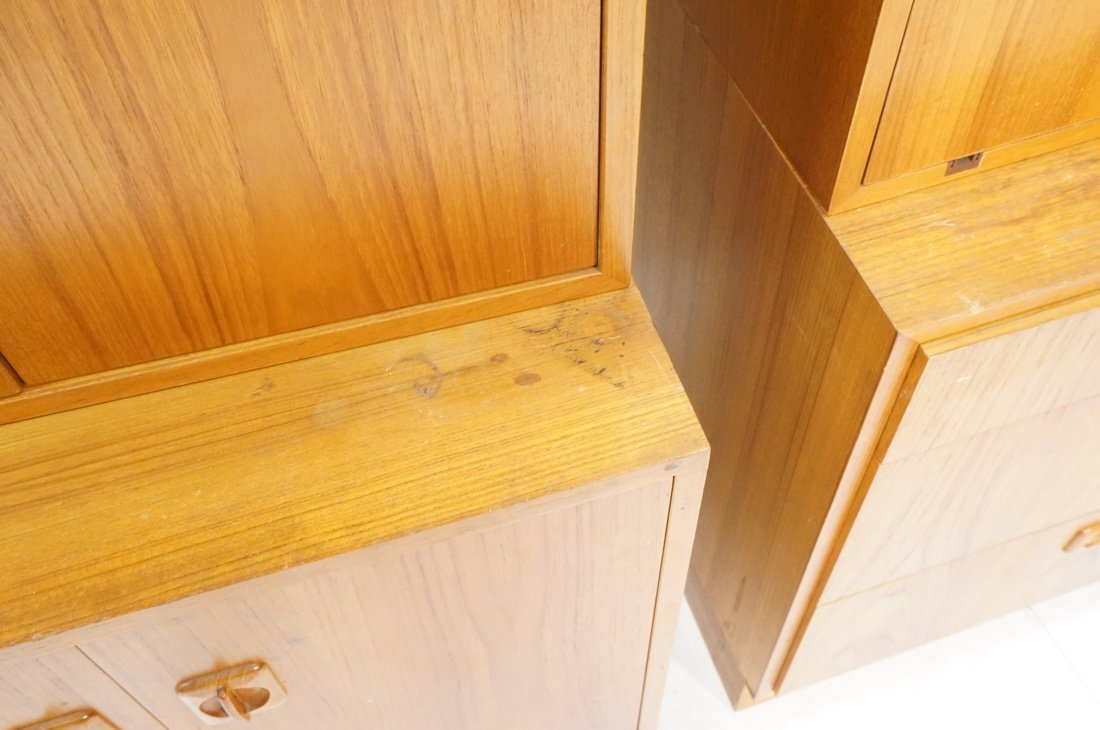2pcs Danish Modern Teak Cabinets. One with two do - 7