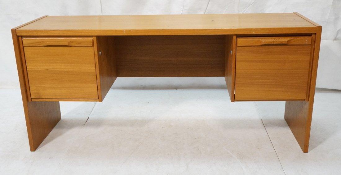 Danish Modern Teak Desk. Two file drawers.