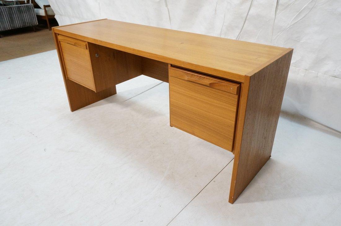 Danish Modern Teak Desk. Two file drawers. - 2