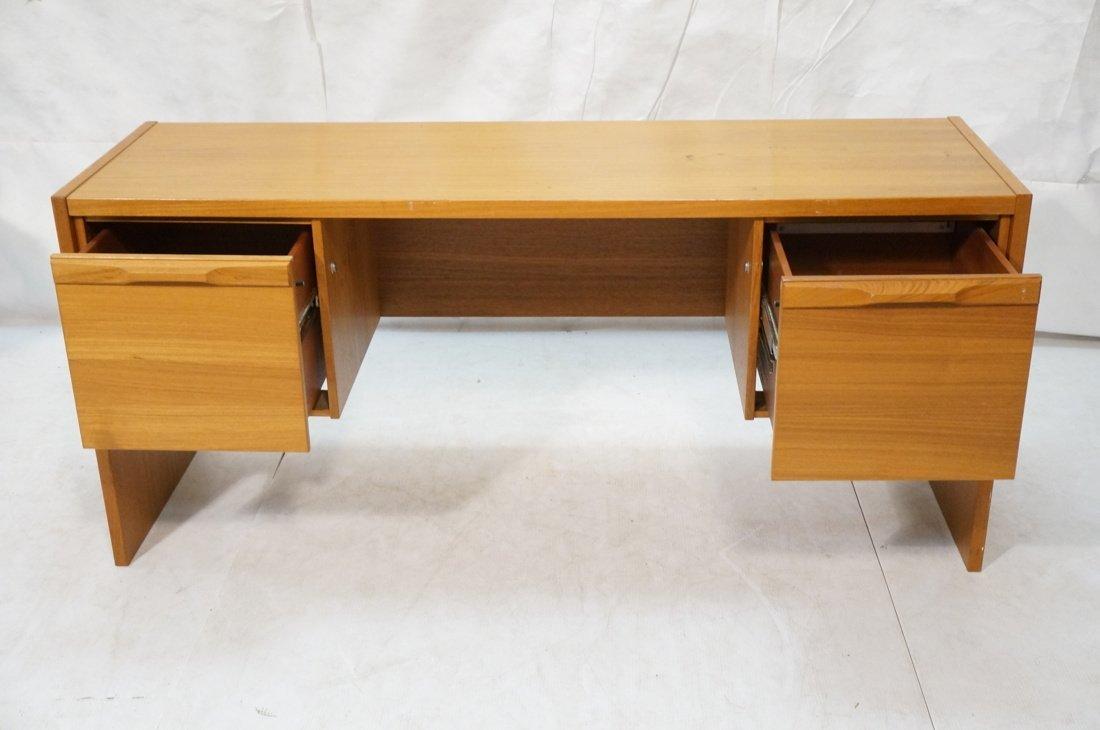 Danish Modern Teak Desk. Two file drawers. - 3