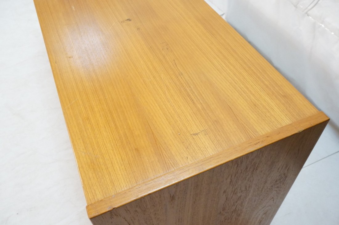 Danish Modern Teak Desk. Two file drawers. - 6