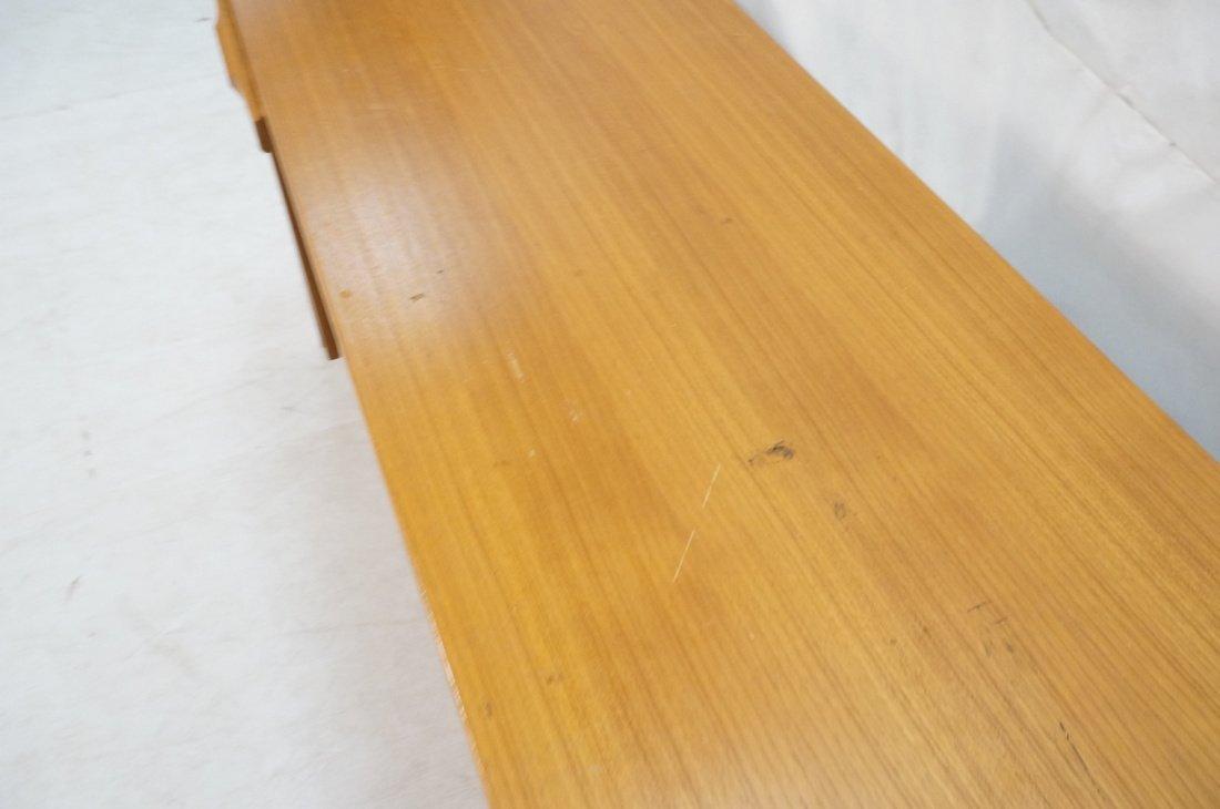 Danish Modern Teak Desk. Two file drawers. - 7