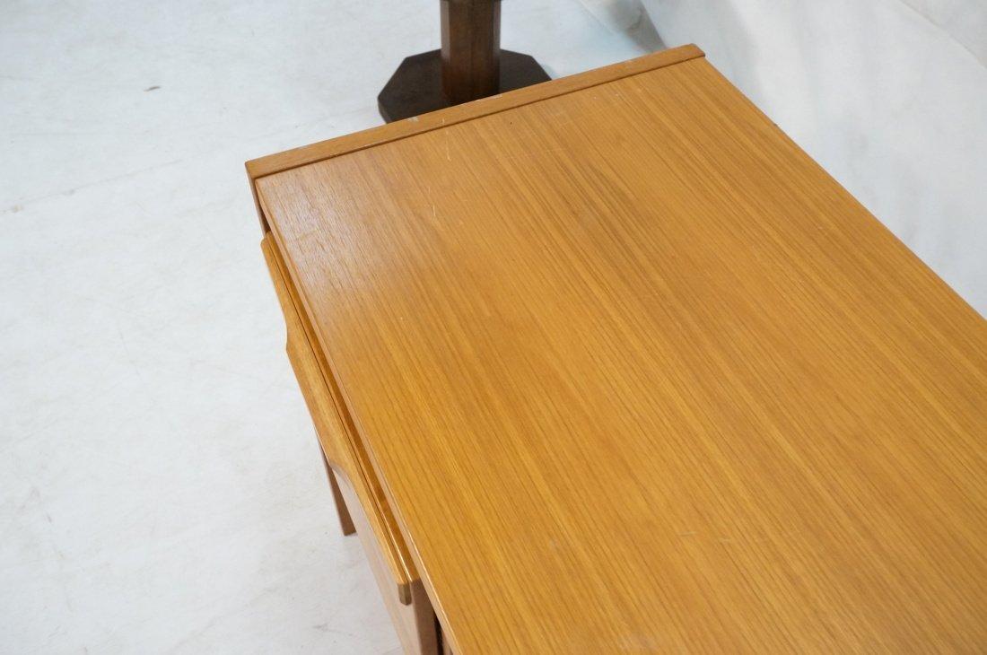 Danish Modern Teak Desk. Two file drawers. - 8