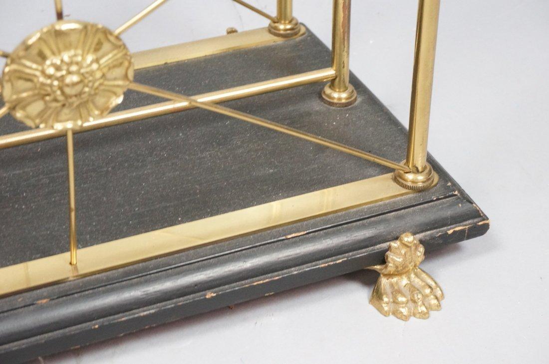Regency style Brass Magazine Rack. Brass paw feet - 3