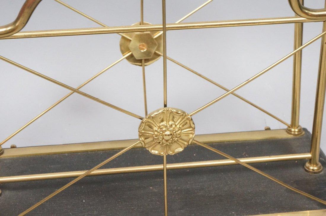 Regency style Brass Magazine Rack. Brass paw feet - 6