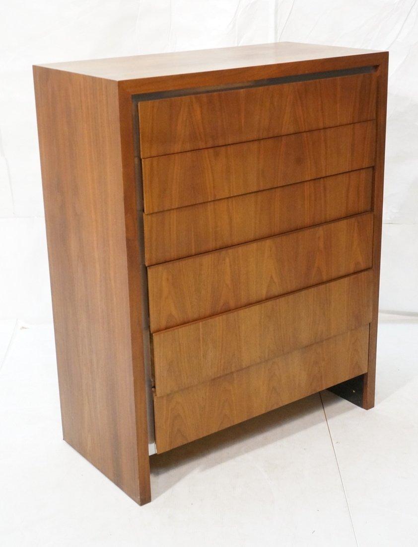 DILLINGHAM Walnut Tall Chest Of Modernist Drawers